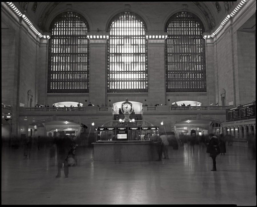 Grand Central Terminal, Grand Concourse, 8x10 Kodak Tri-X Film