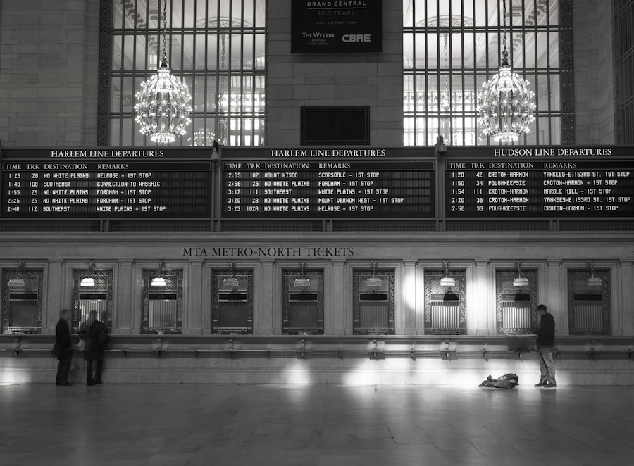 Grand Central Terminal, NYC, Ticket Windows, 8x10 Kodak Tri-X 320