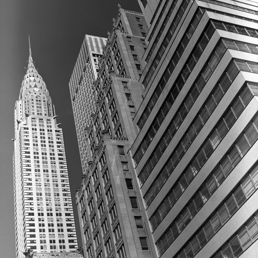 Chrysler Building, NYC, Orange Filter, Fuji Neopan Acros 100