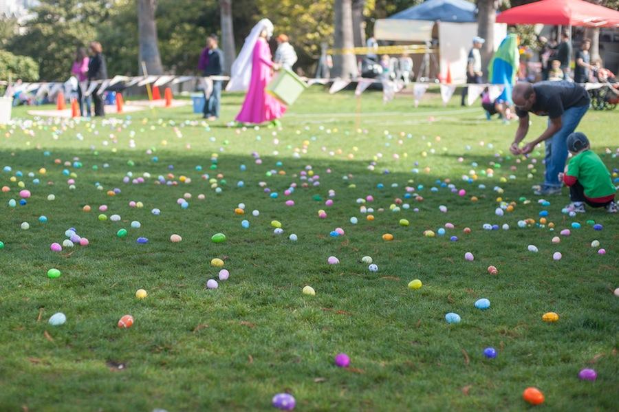 Easter Egg Hunt in Mission Dolores