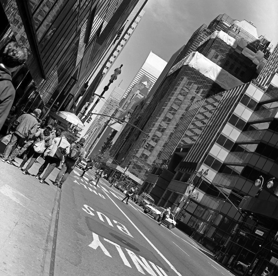 Midtown NYC at an Angle, Fuji Neopan Acros 100 Film