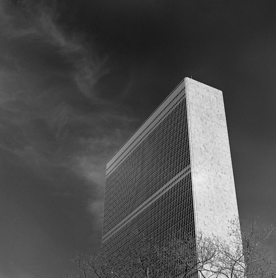 UN Building, NYC, Fuji Neopan Acros 100 Film