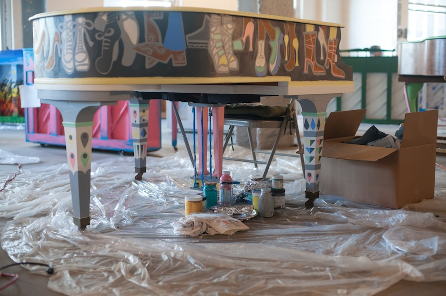 A Nearly Finished Sing for Hope Piano