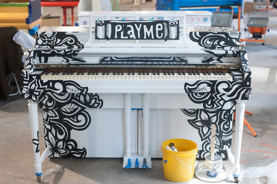 Amanda's Sing for Hope Piano Awaits the Party Tonight