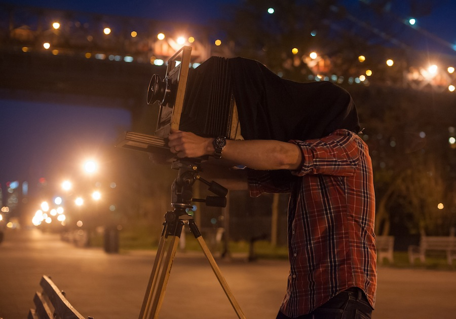 Me Shooting 8x10 on East River by Willimasburg Bridge copy 2