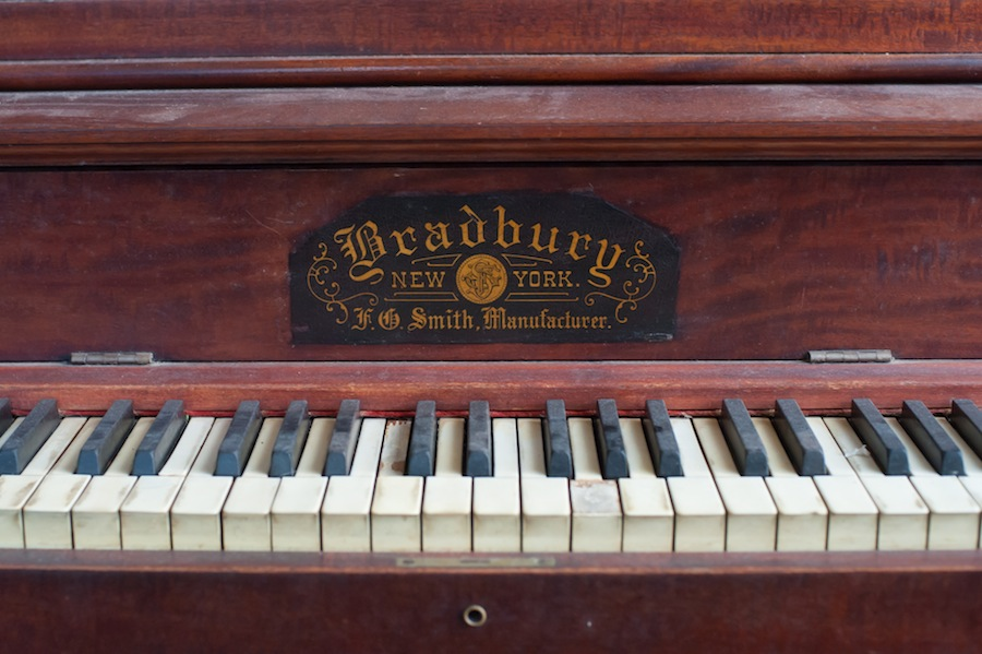 Old Bradbury, New York Piano Before Being Transformed into a Sing for Hope Piano