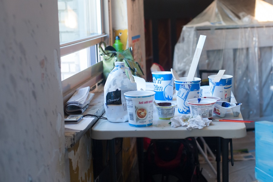 Sing for Hope Piano Used Chobani Yogurt Cups Make Excellent Paint Holders