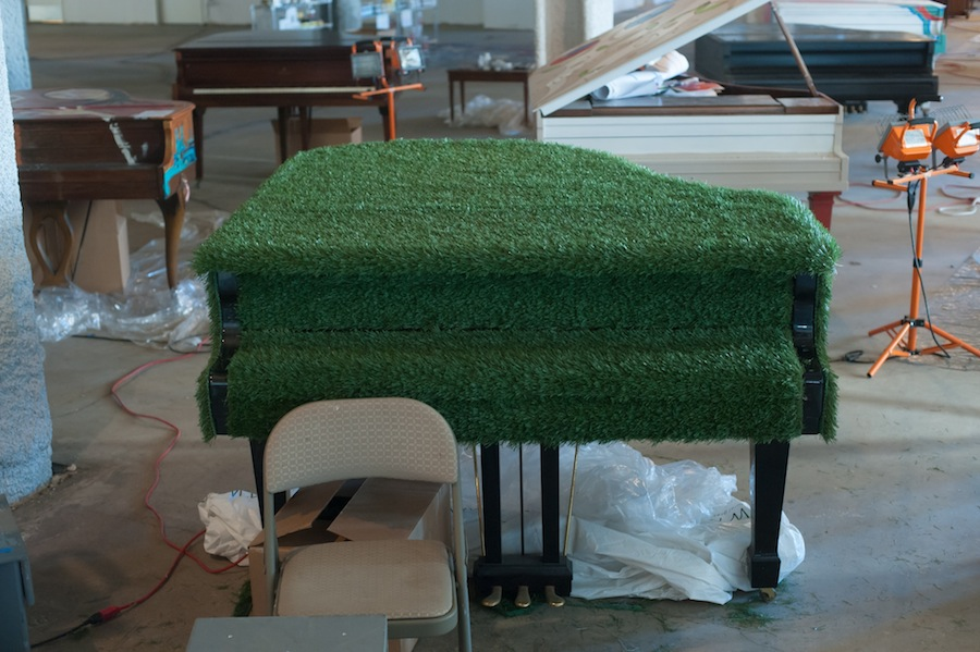 Sing for Hope Piano covered in Astro-Turf