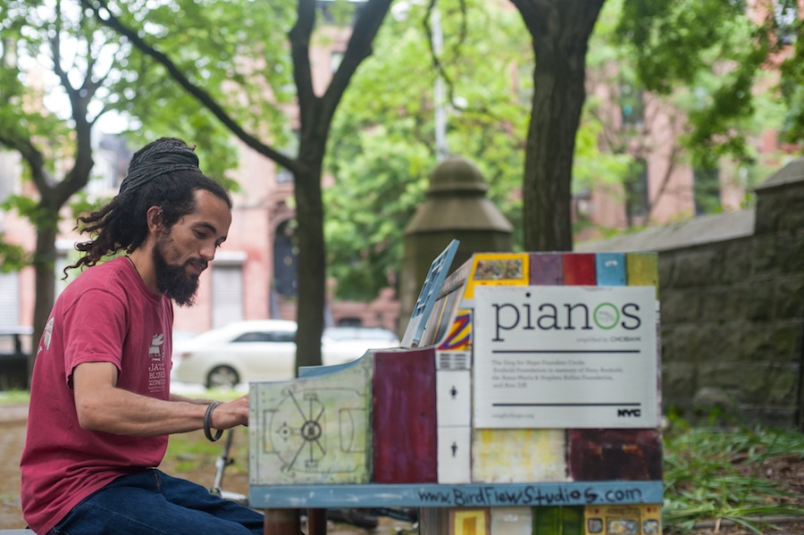 Danesh Playing Rob's Sing for Hope Piano in Fort Greene Park, Brooklyn