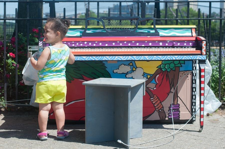 Kid at Anya's Sing for Hope Piano, Inwood Park