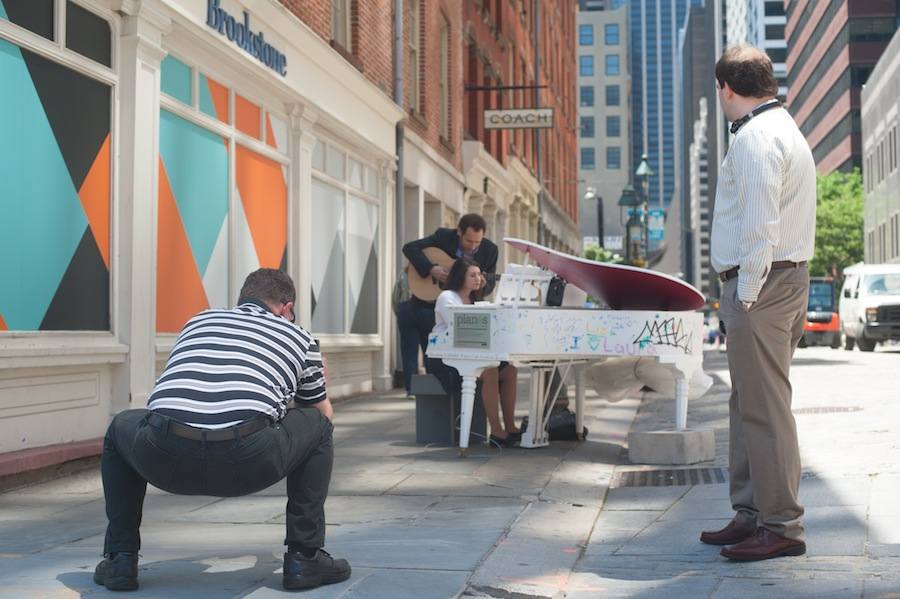 Man Shooting Laura's Sing for Hope Piano in South Street Seaport