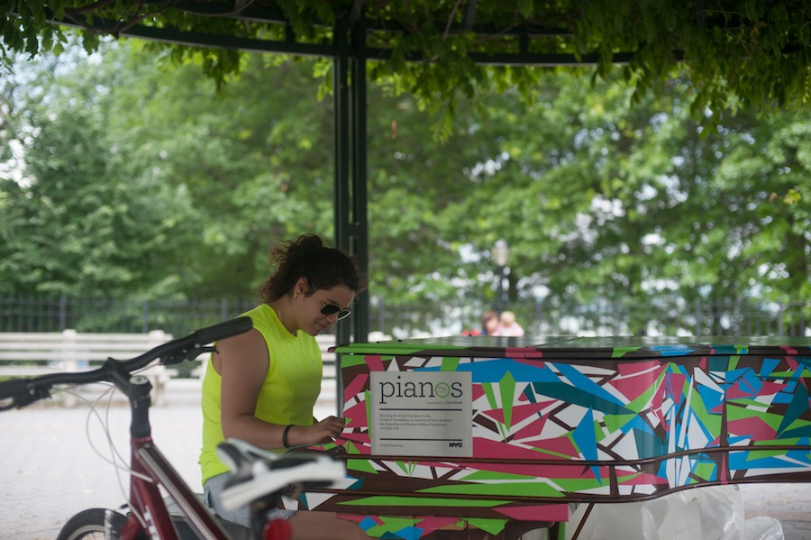 Manoela and Gray's Sing for Hope Piano at Shore Road Park, Brooklyn