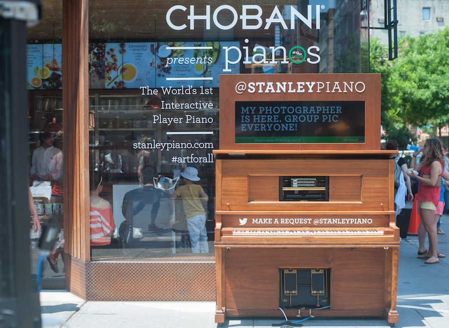 Stanley the World's First Interactive Player Piano at Chobani Soho