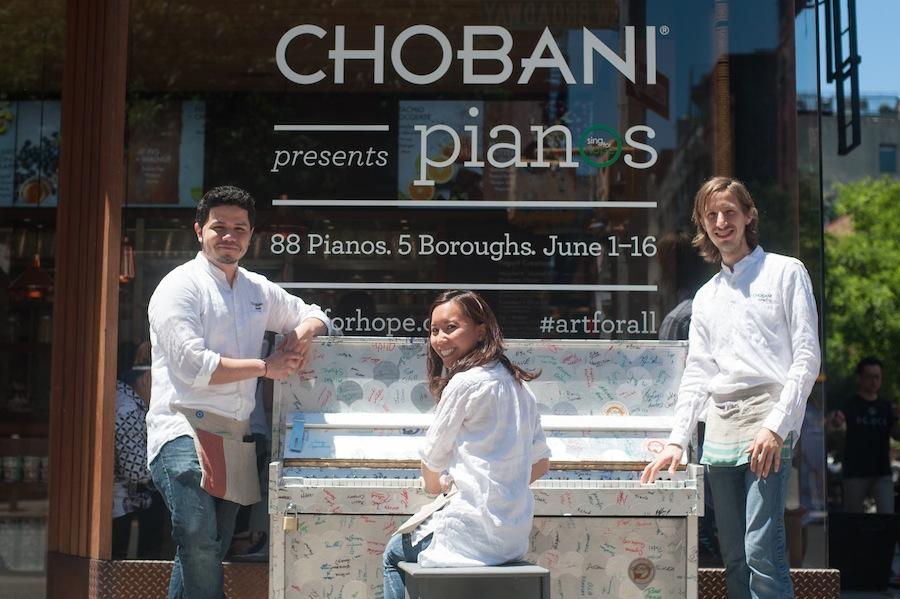The Chobani Soho Crew and their Piano, Soho