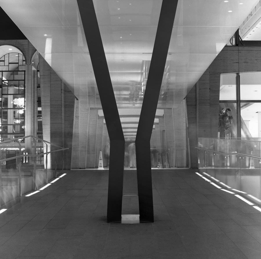 Lincoln Center Exit Long Exposure, Fuji Neopan Acros 100 Film