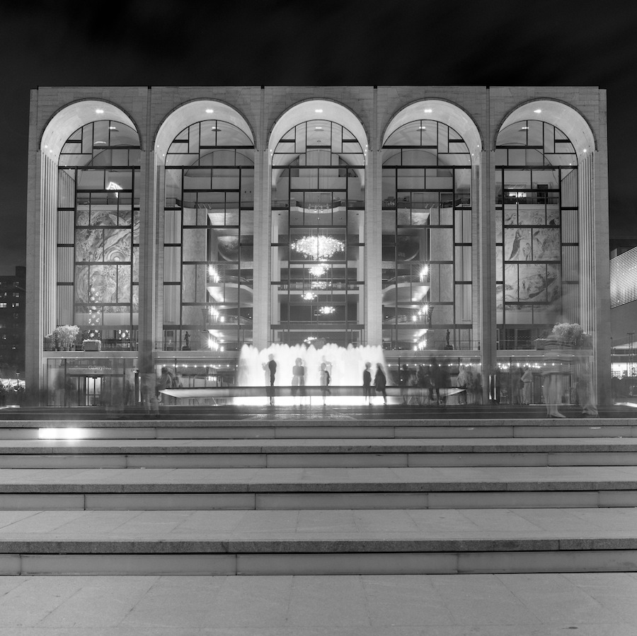 Lincoln Center Plaza Fountain Long Exposure Number Two, Fuji Neopan Acros Film
