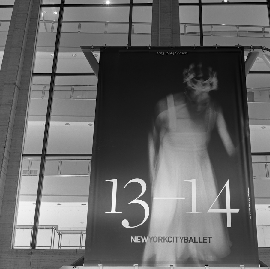 NYC Ballet Sign at Lincoln Center, Fuji Neopan Acros 100 Film