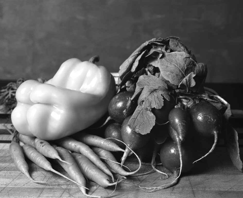 Veggie Still Life, 8x10 Ilford HP5+
