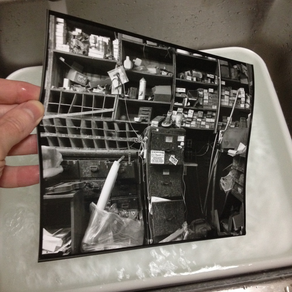 8x10 Contact Print Fresh Out of the Rinse Tray