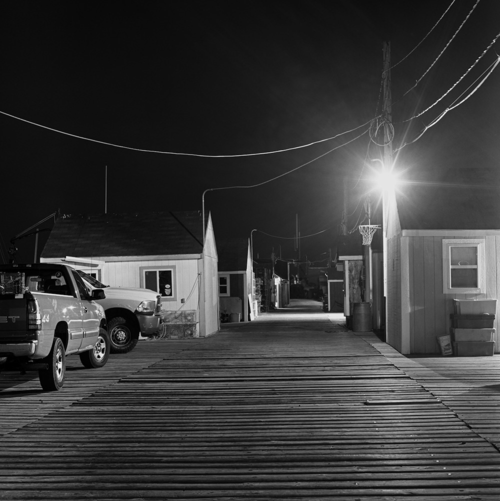 Lobster Shacks, Old Port, Portland Maine, Fuji Neopan Acros 100 Film