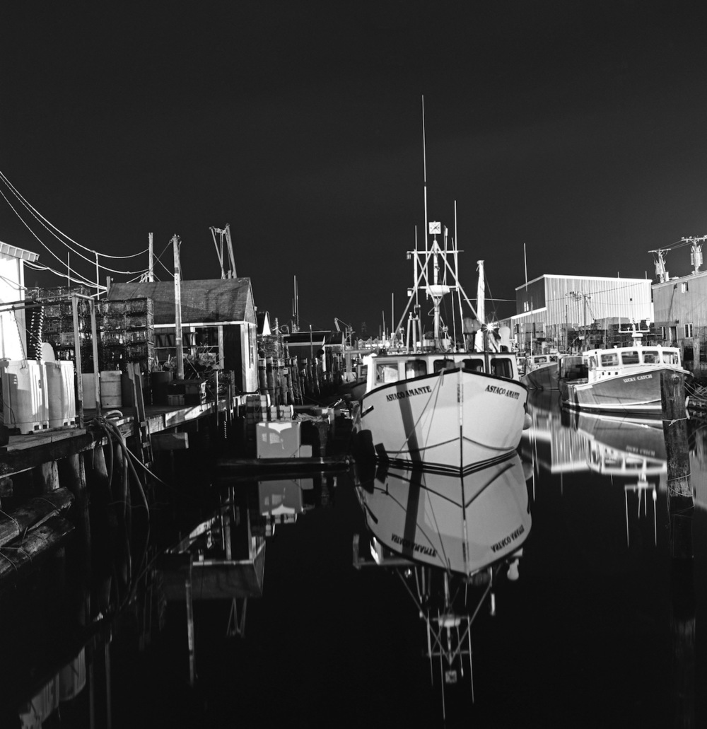 Lobster Boats, Old Port, Portland, Maine, Fuji Neopan Acros 100 Film