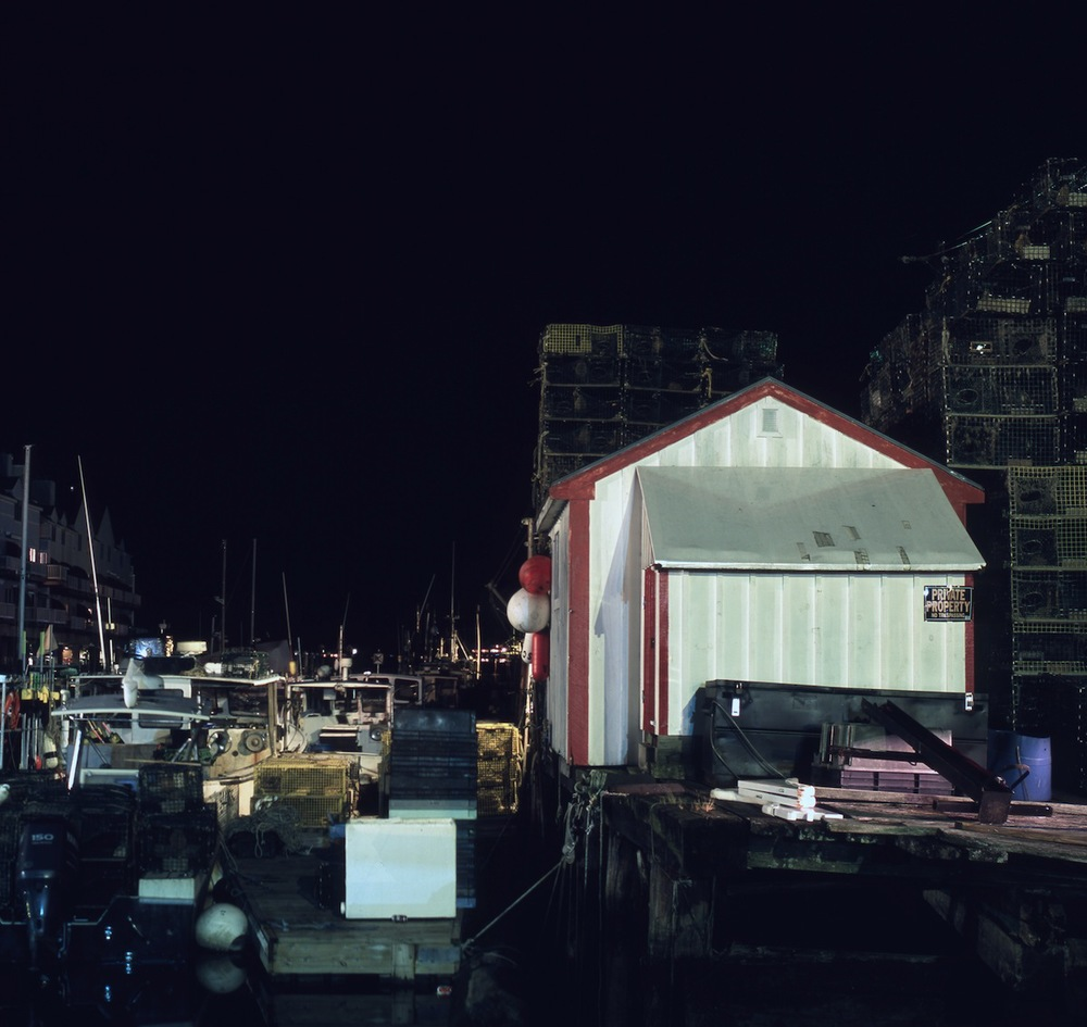 Total Darkness, Lobster Traps Stacked at Old Port, Portland, Maine, Fuji Provia 100 Slide Film