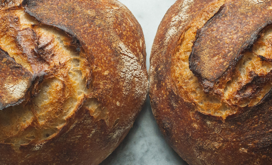 The recipe makes two loaves at a time. Click for larger version on Flickr.