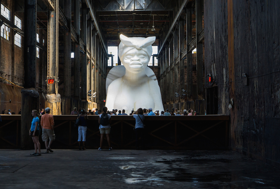 "CLICK for LARGER VERSION on FLICKR Kara Walker ""A Subtlelty"""