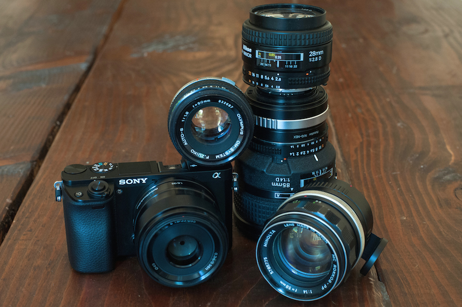 Sony a6000 with Small Selection of Non-Native Lenses