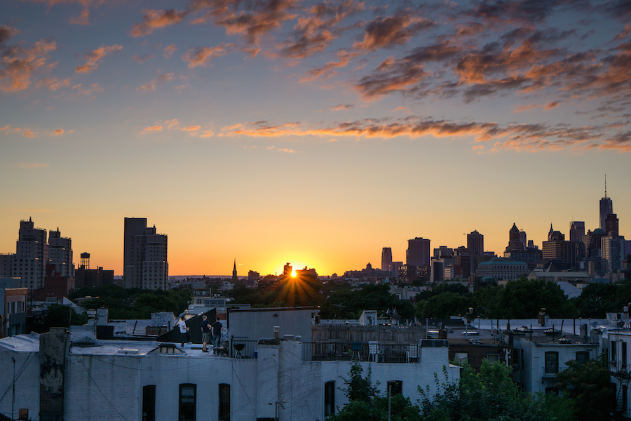 Sunset from Brooklyn Rooftop, Sony a6000 and SEL 35mm f1.8 OSS Lens