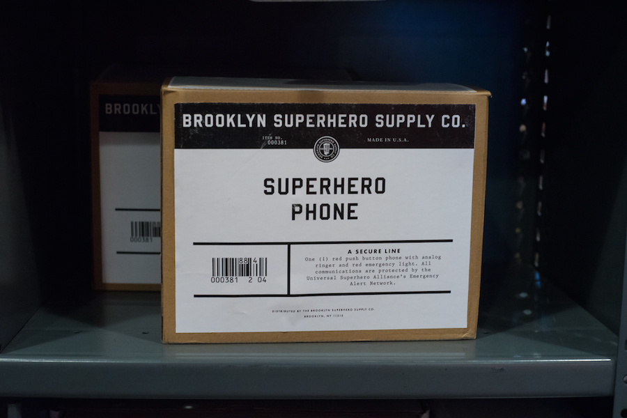 Superhero Phone at the Brooklyn Superhero Supply Store, Sony a7 and Olympus Zuiko 50mm f1.8 Lens