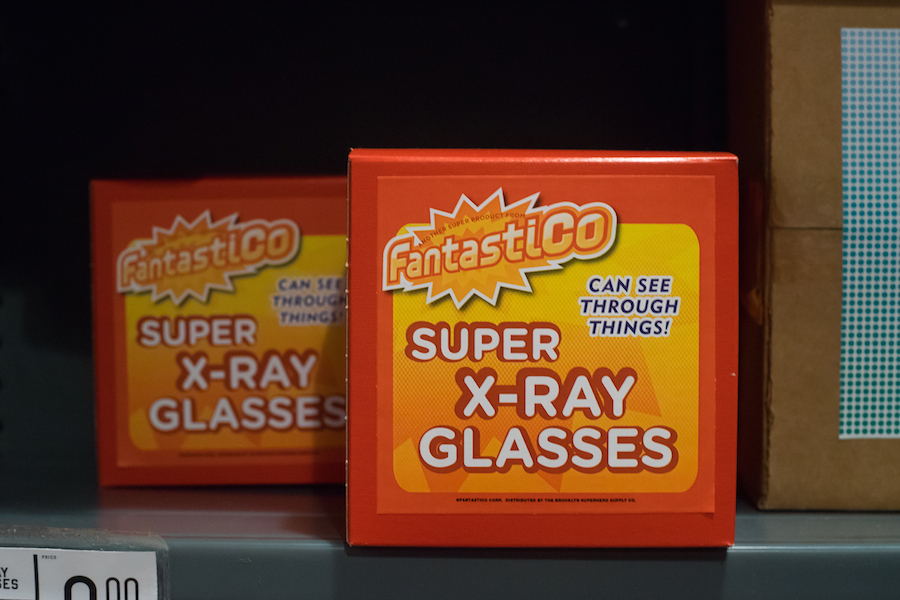 Yup, X-Ray Vision Glasses are for sale at the Brooklyn Superhero Supply Store, Sony a7 and Olympus Zuiko 50mm f1.8 Lens