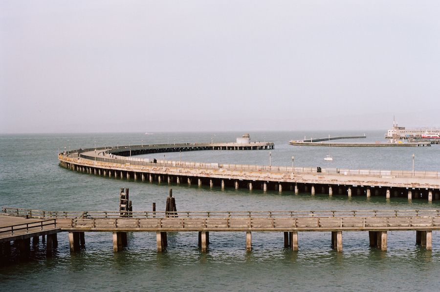 Curved Piers, San Francisco, Kodak Portra 160