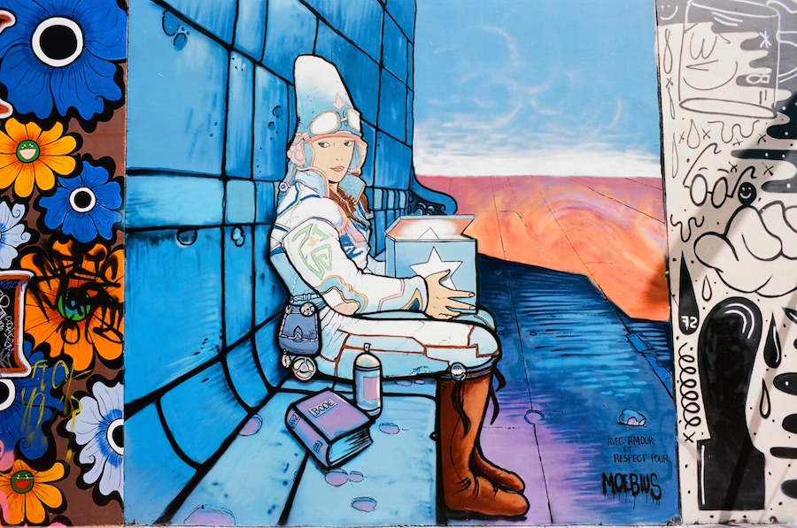 Vaughn Bode Mural Tribute to Moebius, Clarian Alley, San Francisco, Kodak Ektar 100