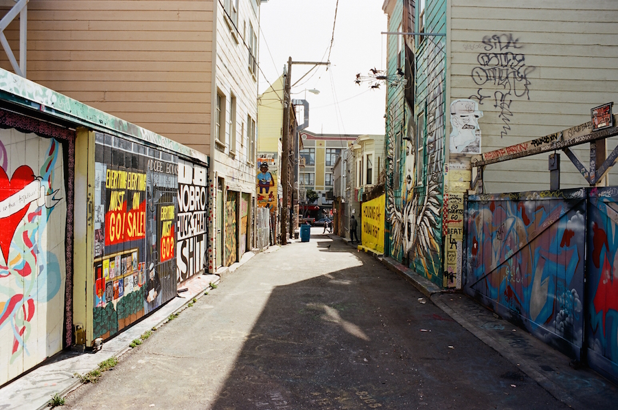 Clarian Alley, Mission District, San Francisco, Kodak Ektar 100