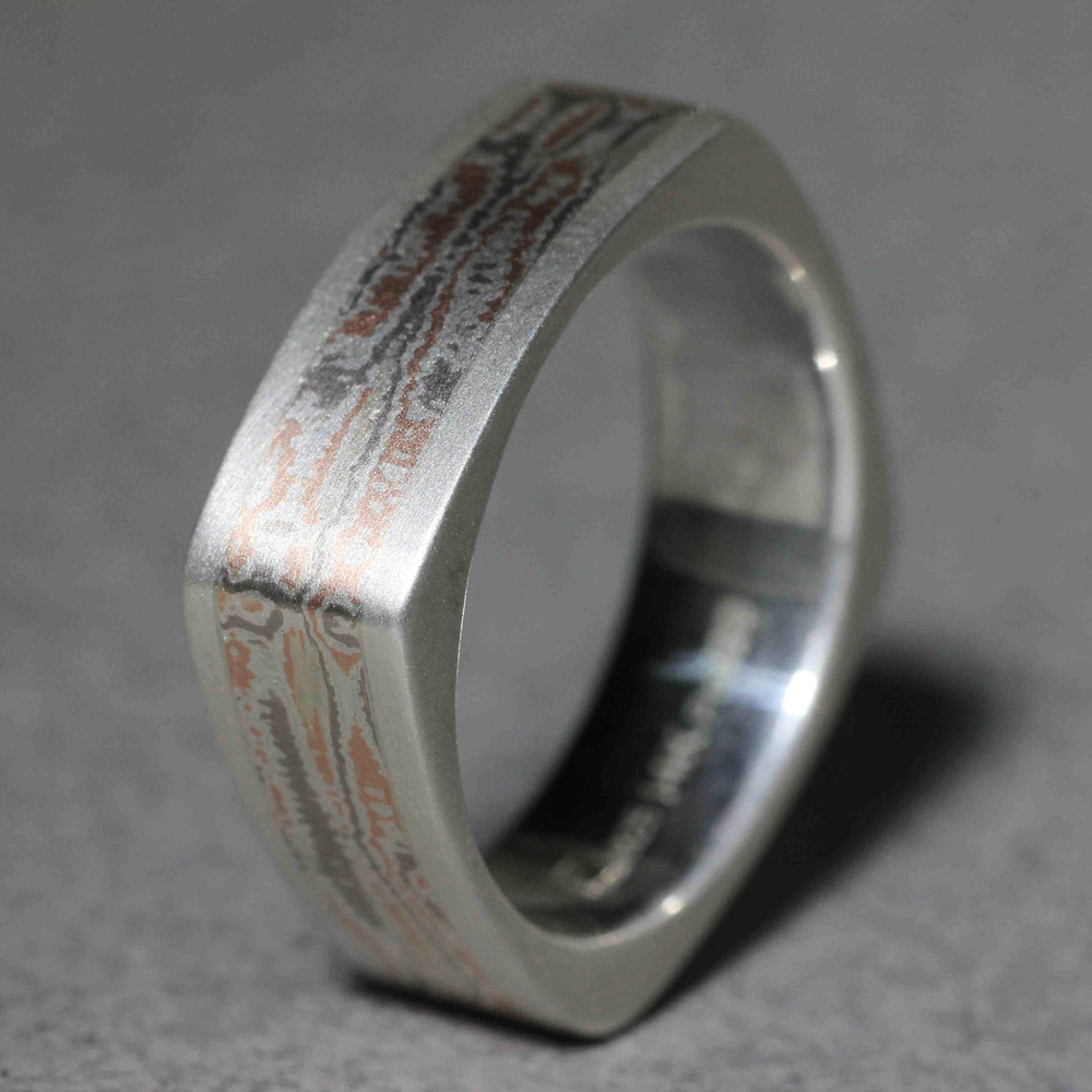 Gane men's wedding band Hand fabricated custom men's wedding band ...