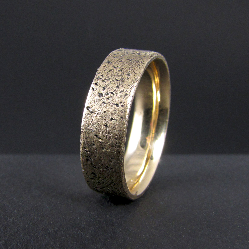 ... band 14k yellow gold, hand fabricated, comfort fit, men's wedding band
