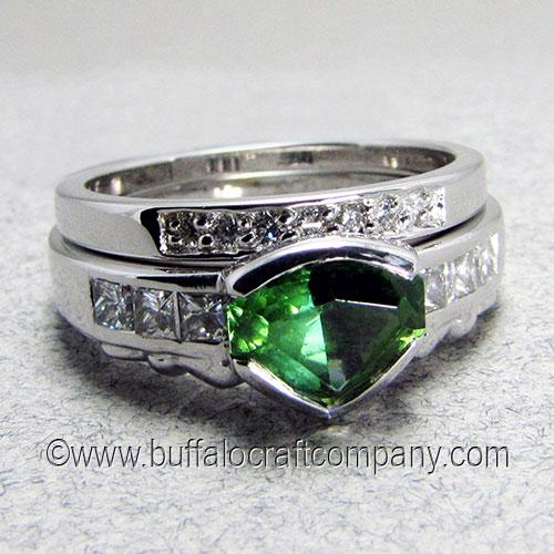 """Elizabeth"" 14k white gold Irish Claddagh women's engagement ring"