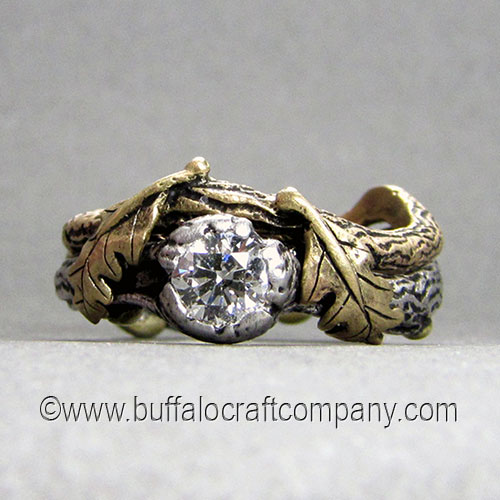 click here to view more from our nature inspired series - Nature Inspired Wedding Rings