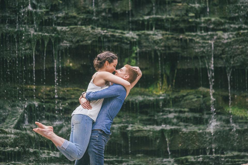 Alison and Adam  • Brooklyn Waterfalls