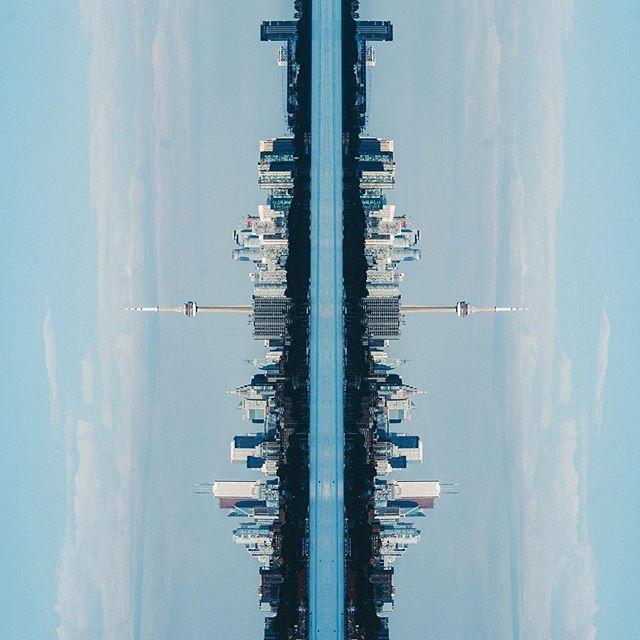 views #toronto #fujixt2 #56mm #fujifilm #fujicanada #fujicamera #torontophotographer #city #thesix #lovetoronto @lovetoronto #mirrorimage #verticalhorizon
