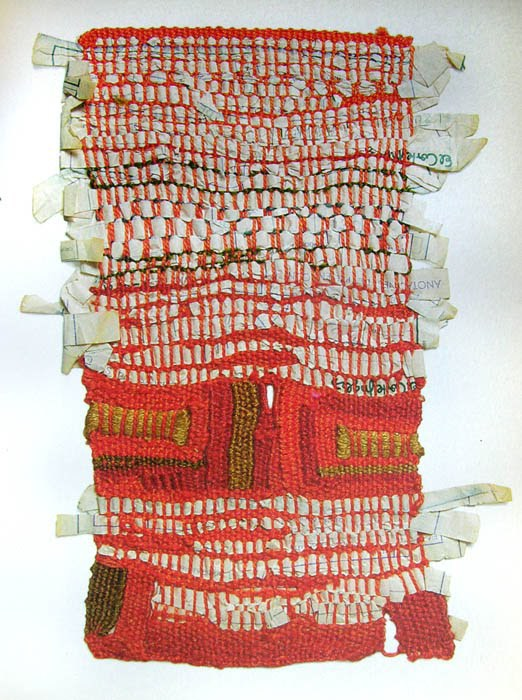 weaverlystreet: Tibidabo Daydream, miniature weaving by Sheila Hicks. Barcelona, 1973. WEDNESDAY WEAVING!
