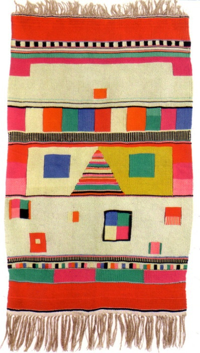 weaverlystreet: Bauhaus tapestry by Max Pfeiffer Watenphul, 1921  I want a loom… : (