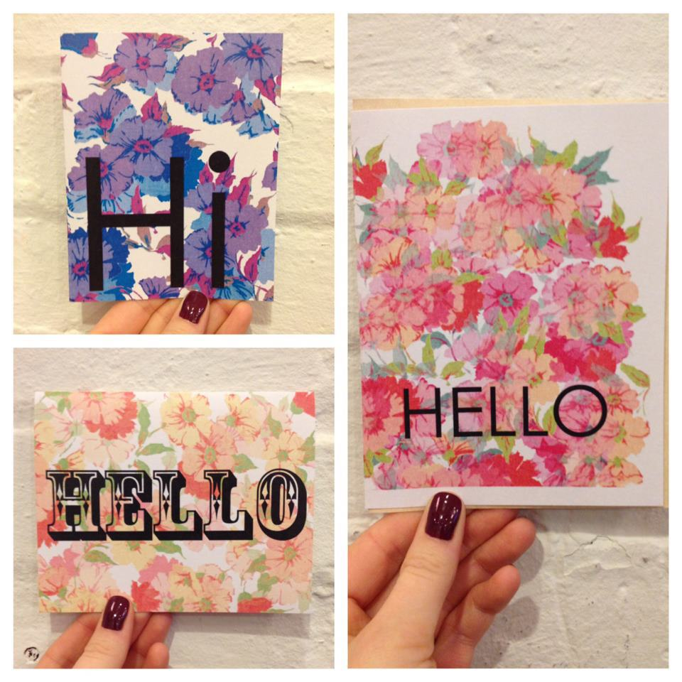 A sampling of my new floral stationary. Found at Wildcard.