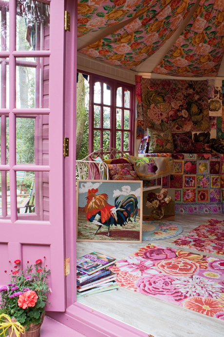 motleycraft-o-rama: Kaffe Fassett's Needlepoint Haven Via Heart Home.