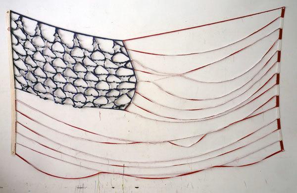 queercontemporaryart: Brian Kenny Deconstructed Flag #2 (Bare Bones), 2012