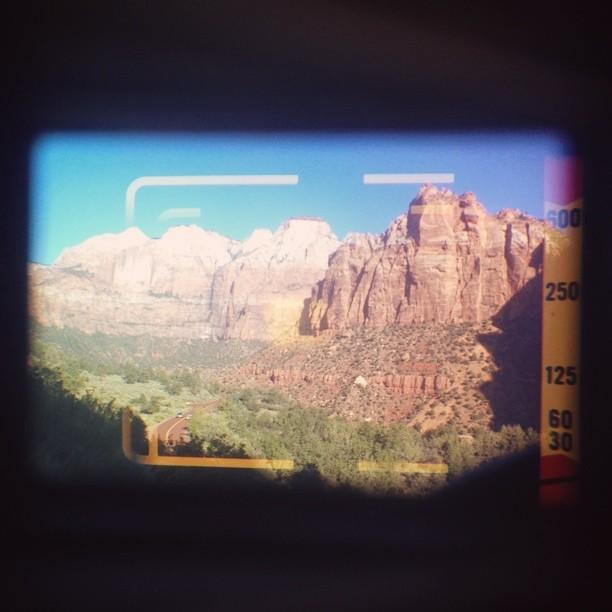jrdnkpln: #vscocam Zion National Park through the rangefinder.