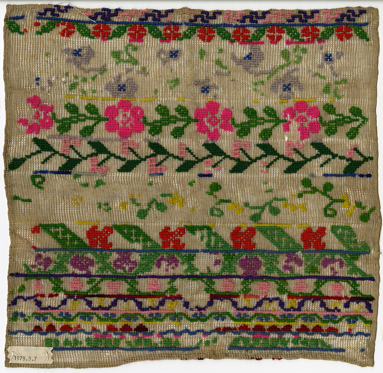 thedesigncenter: Floral embroidery. Date unknown.