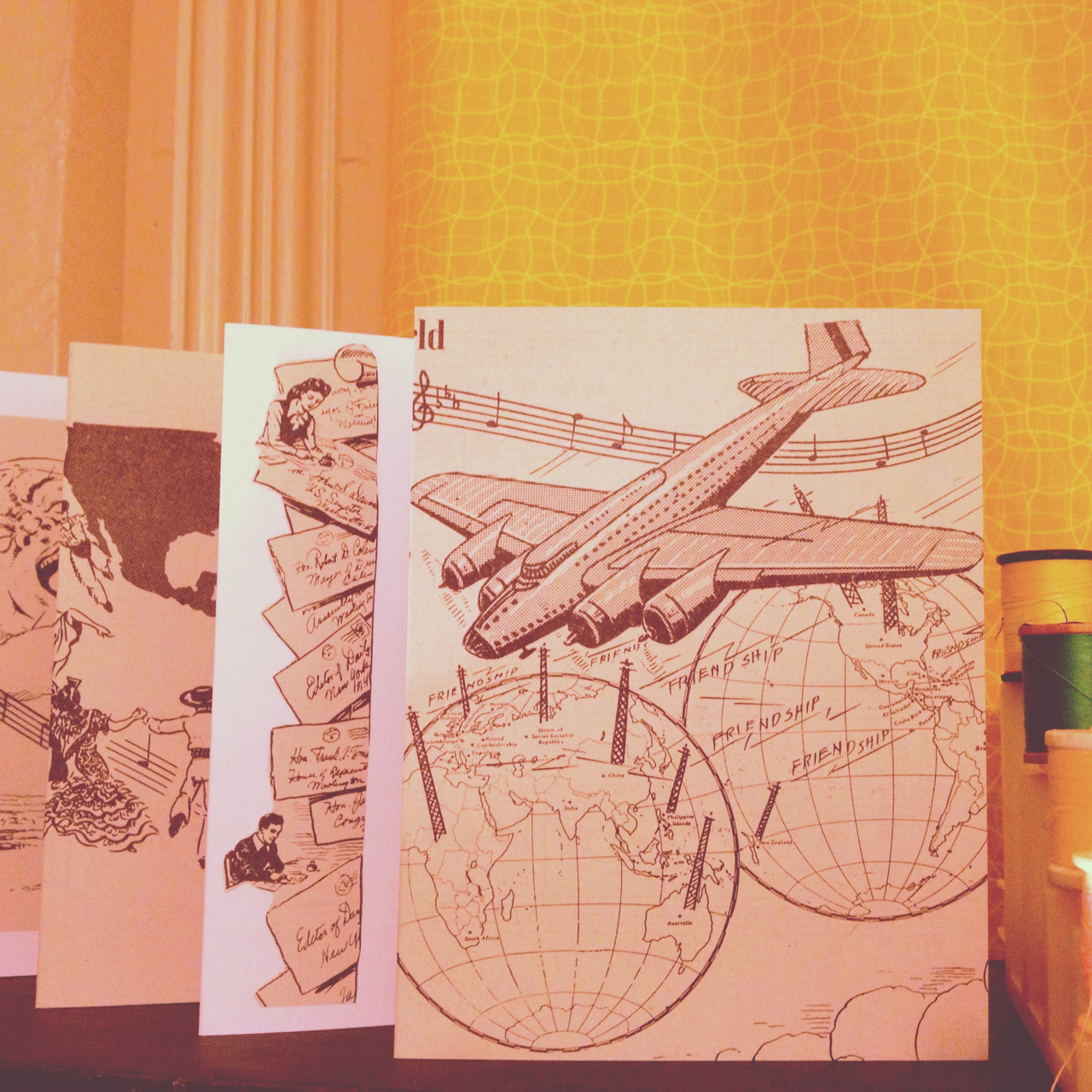 Making some handmade cards….. Anyone want to be penpals?