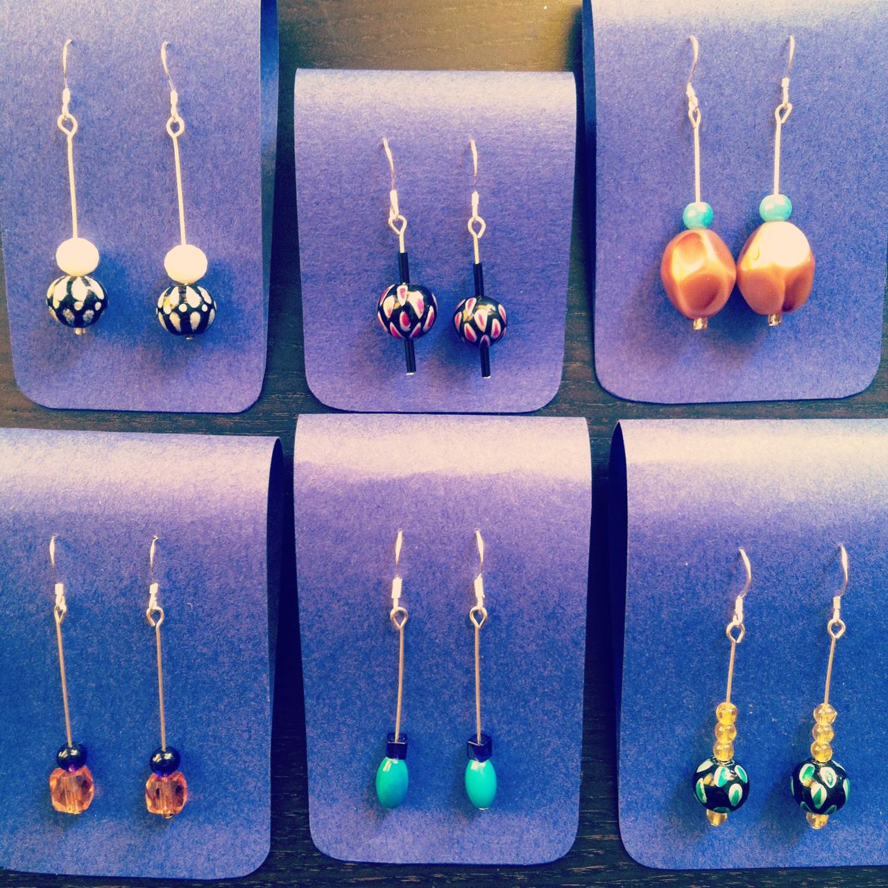 Some new beaded earrings.